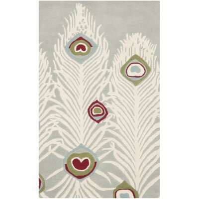 Dorthy Grey / Ivory Rug Rug Size: Rectangle 26 x 4