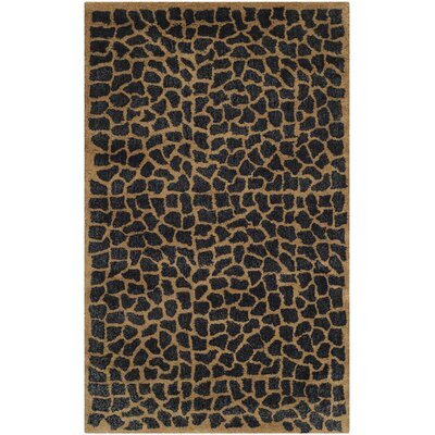 Argana Brown / Black Rug Rug Size: 2 x 3