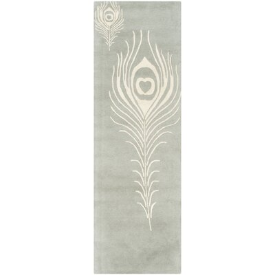 Dorthy Grey / Ivory Contemporary Rug Rug Size: Runner 26 x 10
