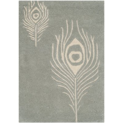 Dorthy Grey / Ivory Contemporary Rug Rug Size: Rectangle 6 x 9