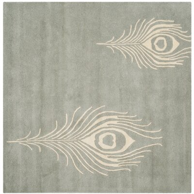 Dorthy Grey / Ivory Contemporary Rug Rug Size: Square 6