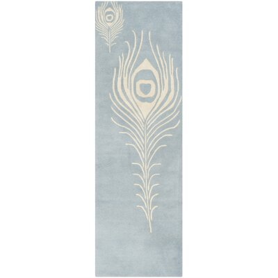 Dorthy Light Blue / Ivory Contemporary Rug Rug Size: Runner 26 x 8