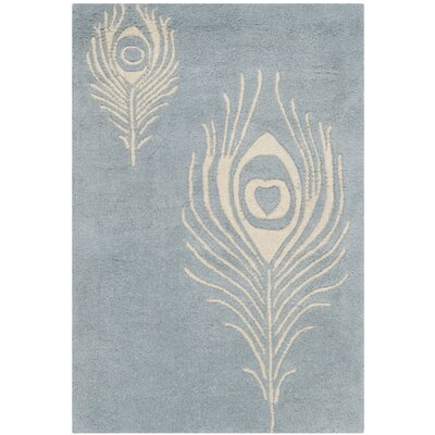 Dorthy Light Blue / Ivory Contemporary Rug Rug Size: 2 x 3