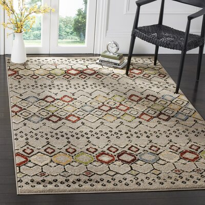 Hedley Light Gray Area Rug Rug Size: Rectangle 9 x 12