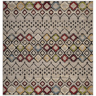 Hedley Light Gray Area Rug Rug Size: Square 67