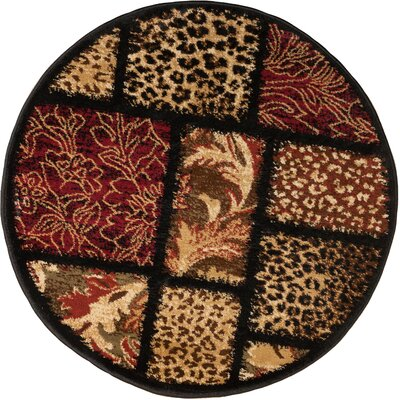 Emeril Leopard Animal Print Area Rug Rug Size: Round 53
