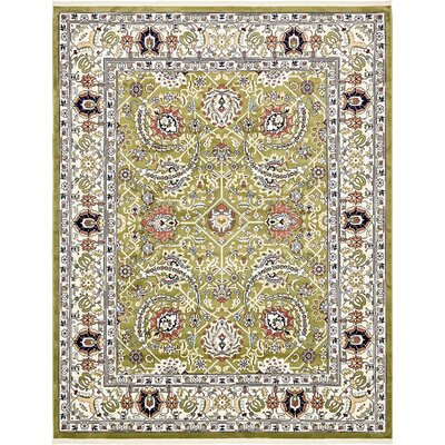 Amrane Green/Tan Area Rug Rug Size: 10 x 13