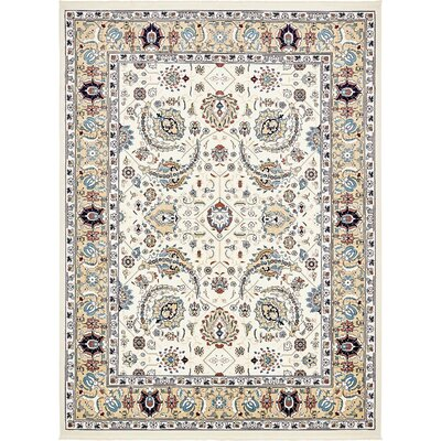Jadyn Cream/Tan Area Rug Rug Size: 3' x 5'
