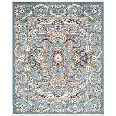 Amrane Blue/Tan Area Rug Rug Size: 10 x 13