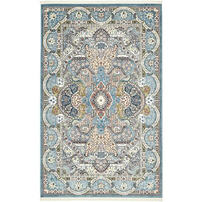 Amrane Blue/Tan Area Rug Rug Size: Rectangle 10 x 13