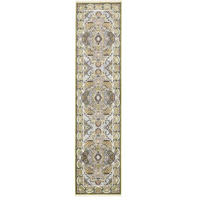 Amrane Green/Blue Area Rug Rug Size: Runner 3 x 13