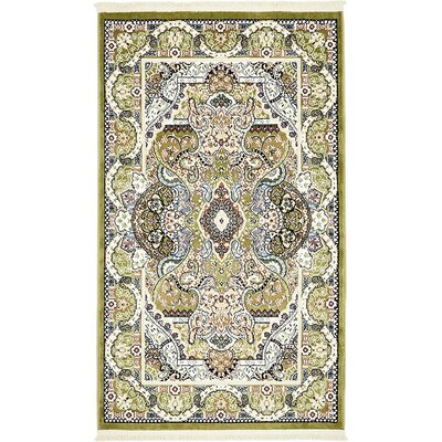 Amrane Green/Blue Area Rug Rug Size: Rectangle 10 x 13