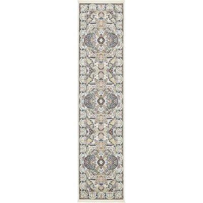 Amrane Ivory/Tan Area Rug Rug Size: Runner 3 x 13