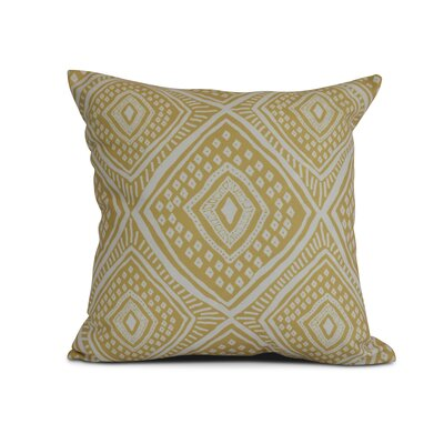 Adler Square Outdoor Throw Pillow Size: 16 H x 16 W x 3 D, Color: Yellow