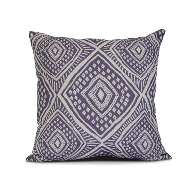 Adler Square Outdoor Throw Pillow Size: 18 H x 18 W x 3 D, Color: Purple