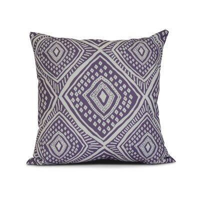 Adler Square Outdoor Throw Pillow Size: 16 H x 16 W x 3 D, Color: Purple