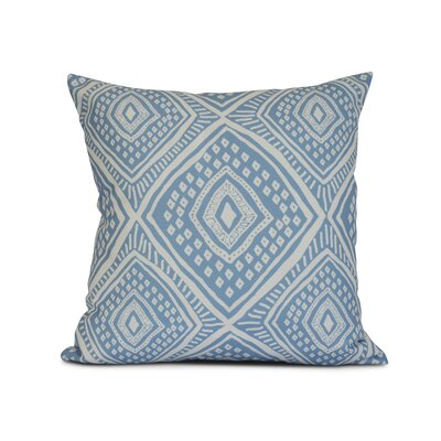 Mercado Throw Pillow Size: 26 H x 26 W x 3 D, Color: Light Blue