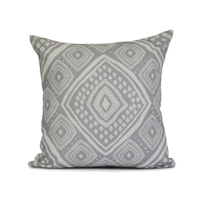 Hieu Outdoor Throw Pillow Size: 20 H x 20 W x 3 D, Color: Gray
