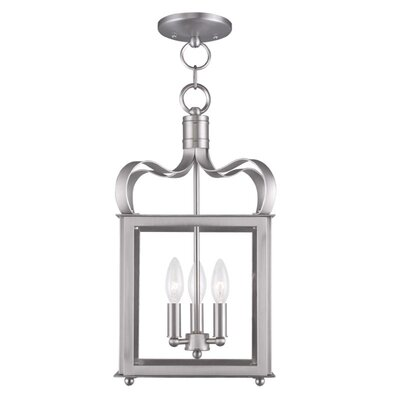Conleth 3-Light Chain Foyer Pendant Finish: Brushed Nickel