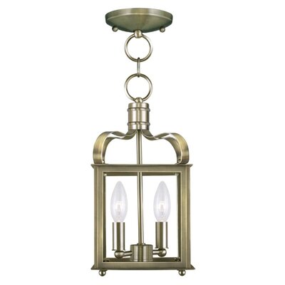 Robertson 2-Light Foyer Pendant Finish: Antique Brass