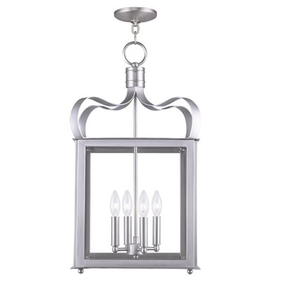 Conleth 4-Light Foyer Pendant Color: Brushed Nickel