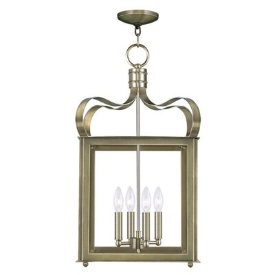 Robertson 4-Light Foyer Pendant Finish: Antique Brass