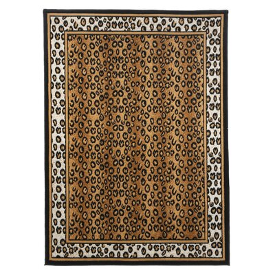Kaly Leopard Brown Area Rug Rug Size: 79 x 108