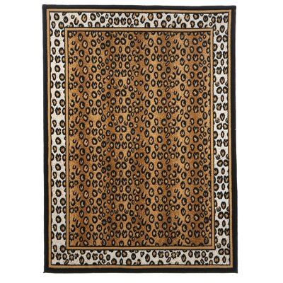Kaly Leopard Brown Area Rug Rug Size: 53 x 75