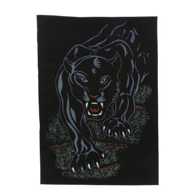 Folse Panther Black Area Rug Rug Size: 53 x 75
