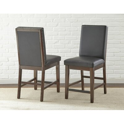 Karlov Counter Side Chair (Set of 2) Upholstery: Black