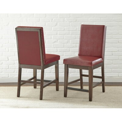 Karlov Dining Chair (Set of 2) Upholstery: Red