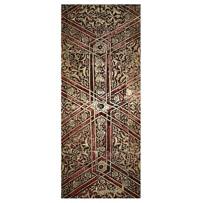 Heathcote Wine Red/Gold Area Rug