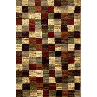 Apex Brown/Beige Area Rug Rug Size: 5 x 8