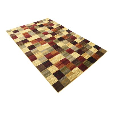 Jaidan Brown/Beige Geometric Area Rug Rug Size: Rectangle 5 x 8