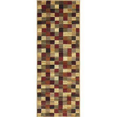 Apex Brown/Beige Area Rug Rug Size: Runner 22 x 6