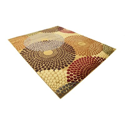 Apex Beige Area Rug Rug Size: 5 x 8