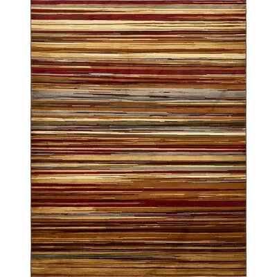 Jaidan Beige Striped Area Rug Rug Size: 9 x 12