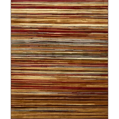 Jaidan Beige Striped Area Rug Rug Size: 8 x 10