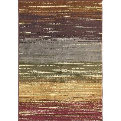 Apex Beige/Red Area Rug Rug Size: 5 x 8