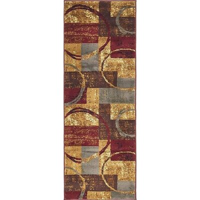 Apex Brown/Gray Area Rug Rug Size: Runner 22 x 6