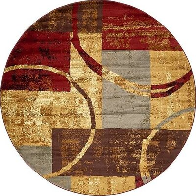 Apex Brown/Gray Area Rug Rug Size: Round 8