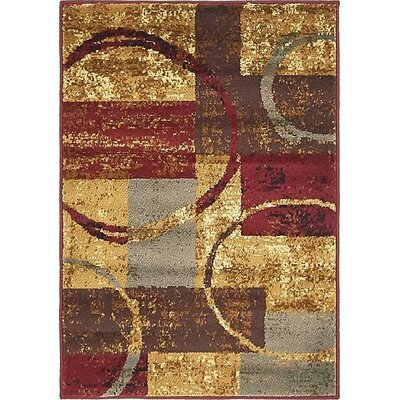 Apex Brown/Gray Area Rug Rug Size: 4 x 6