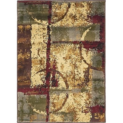 Jaidan Brown/Beige Abstract Area Rug Rug Size: 8 x 10