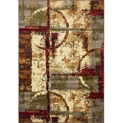 Jaidan Brown/Beige Abstract Area Rug Rug Size: 4 x 6