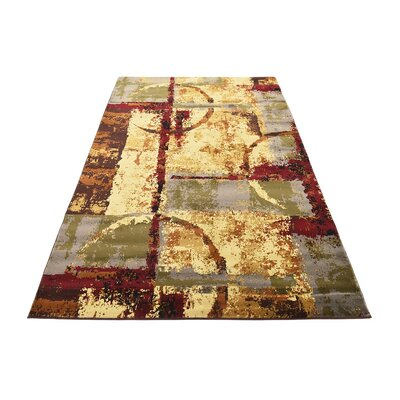 Jaidan Brown/Beige Abstract Area Rug Rug Size: Rectangle 8 x 10