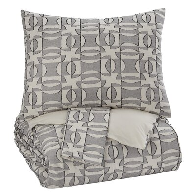 Parisot 3 Piece Duvet Cover Set Size: Queen