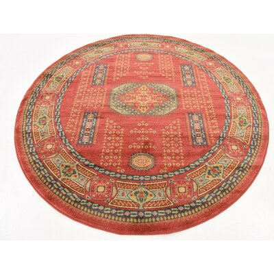 Lerma Red Area Rug Rug Size: 6 W x 6 L
