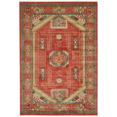 Lerma Red Area Rug Rug Size: 8 W x 12 L