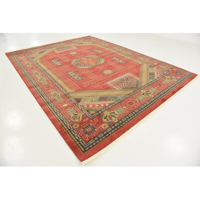 Lerma Red Area Rug Rug Size: 9 W x 12 L