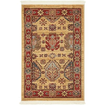 Valley Beige Area Rug Rug Size: 33 x 53